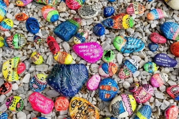 family night activities kindness stones