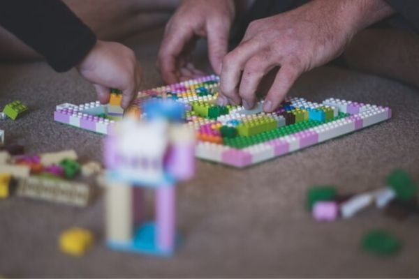 play legos for family activities
