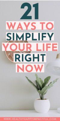 simplify life pin