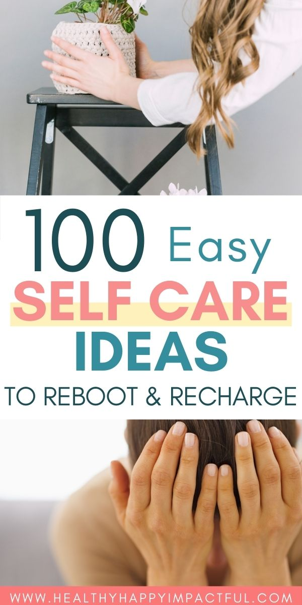 100 self care ideas pin