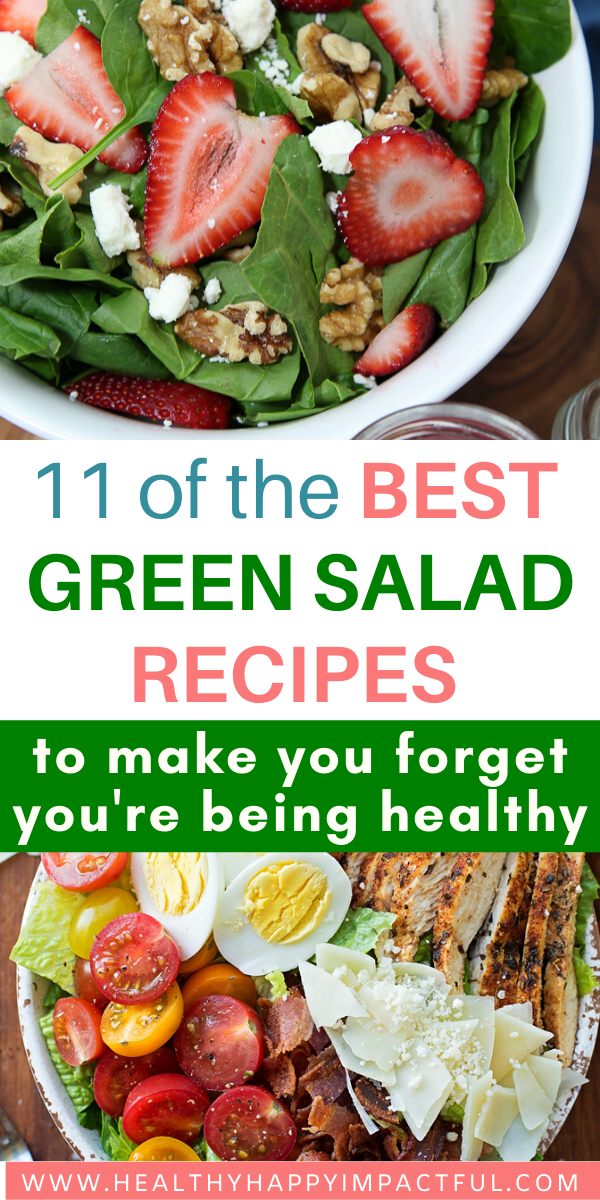 green salad recipes pin