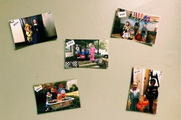 Halloween Traditions: print photos as decorations
