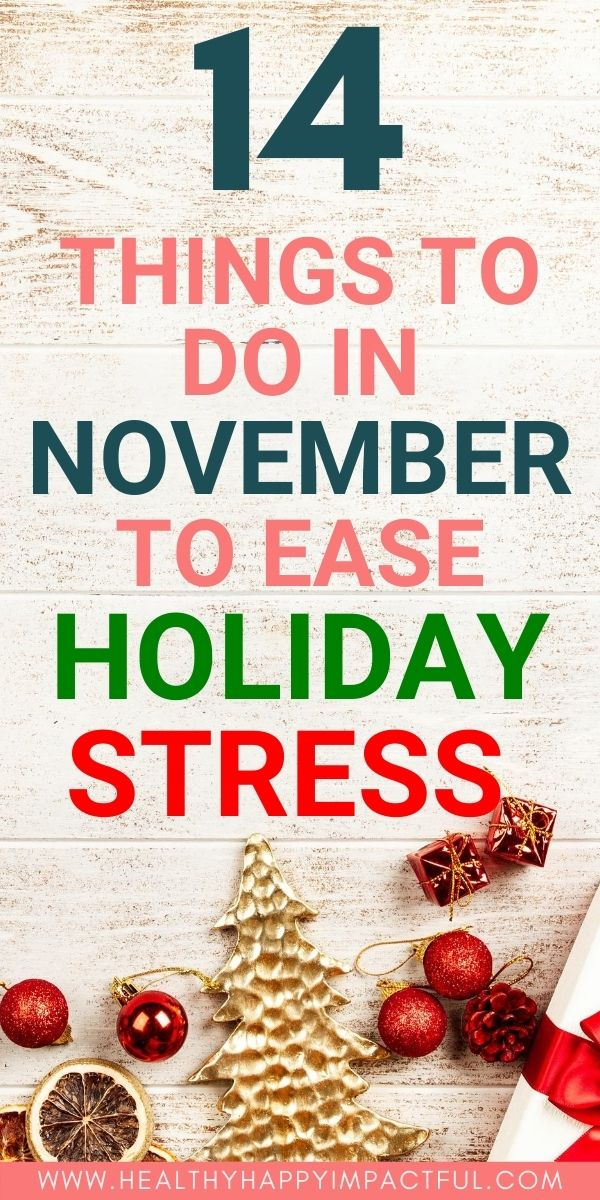 how to avoid holiday stress in November