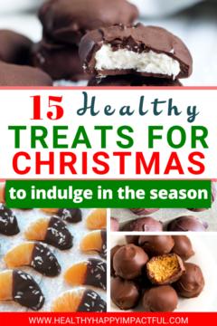 healthy treats for Christmas pin