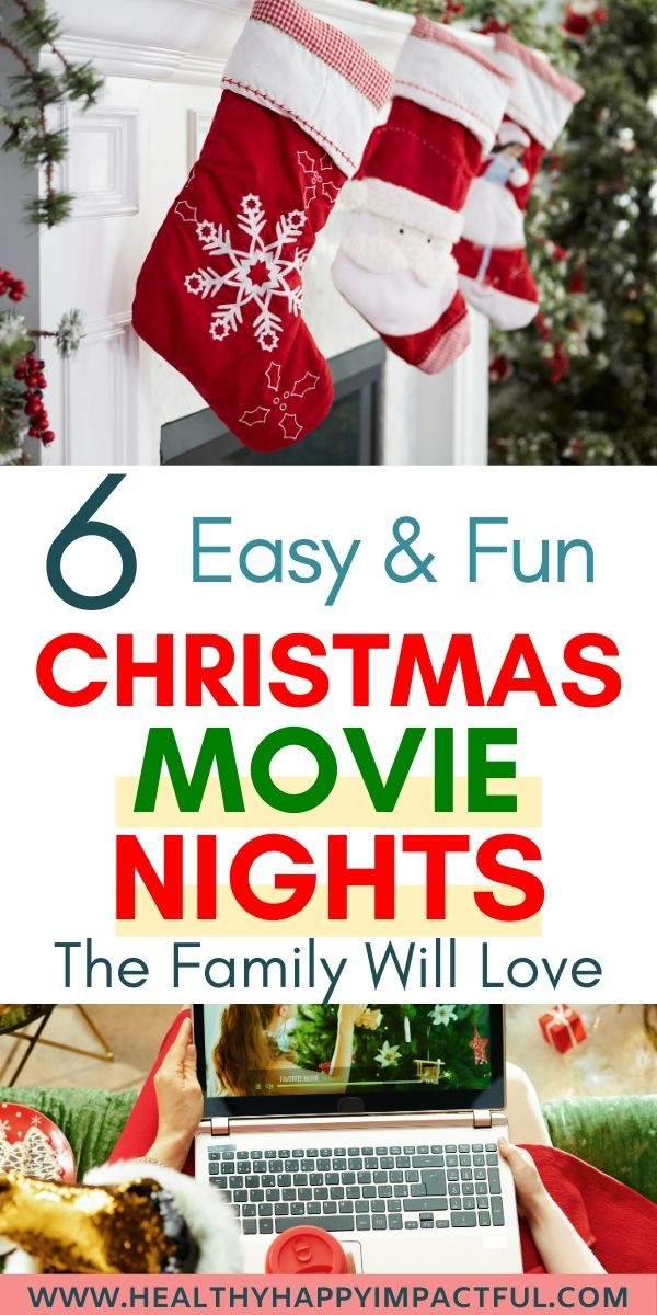 Christmas movie night pin