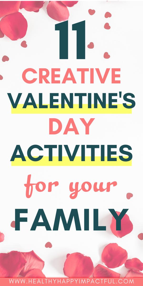 Valentine's Day activities pin