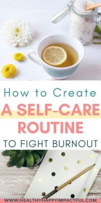 self care routine ideas for women pin