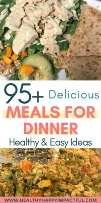 Healthy meals for dinner pin