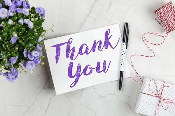 how to practice gratitude: with a thank you card