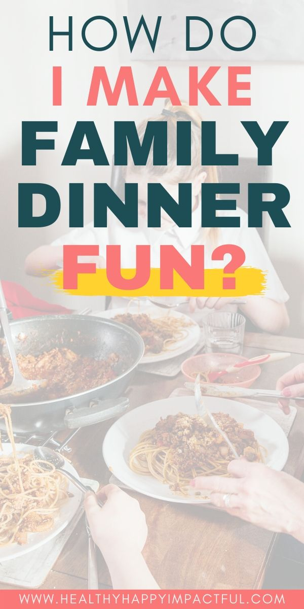 fun family dinner ideas pin