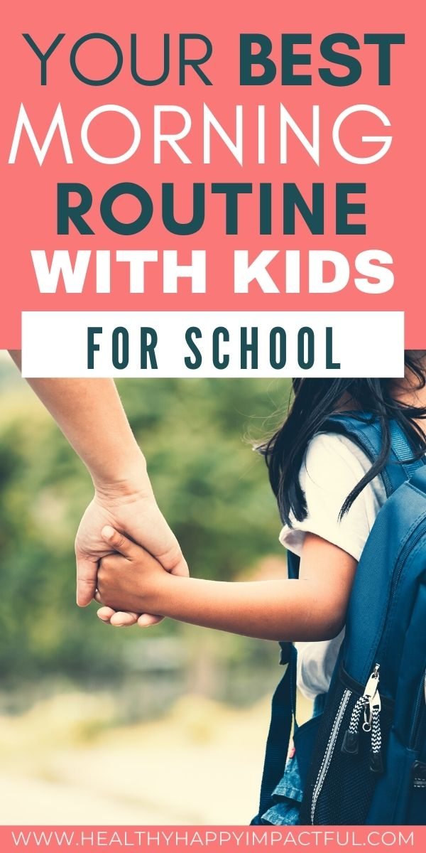 morning routine with kids pin