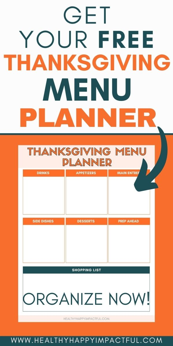 Free printable Thanksgiving menu template pin