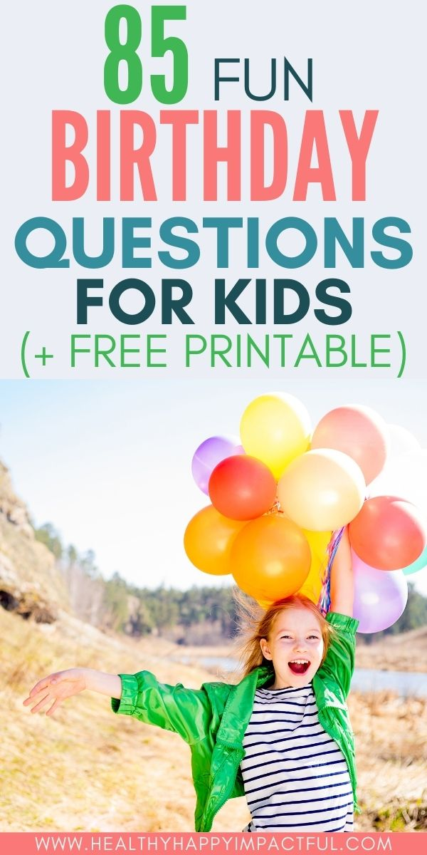 fun birthday questions for kids pin