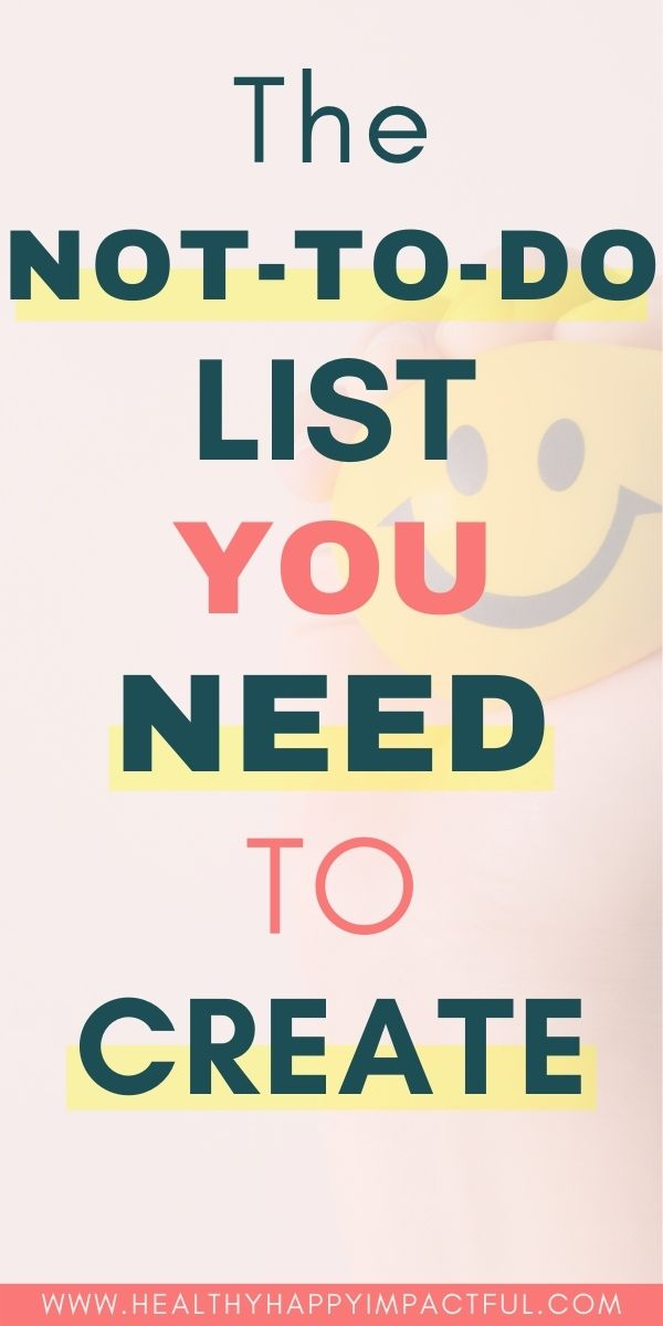 not to do list pin