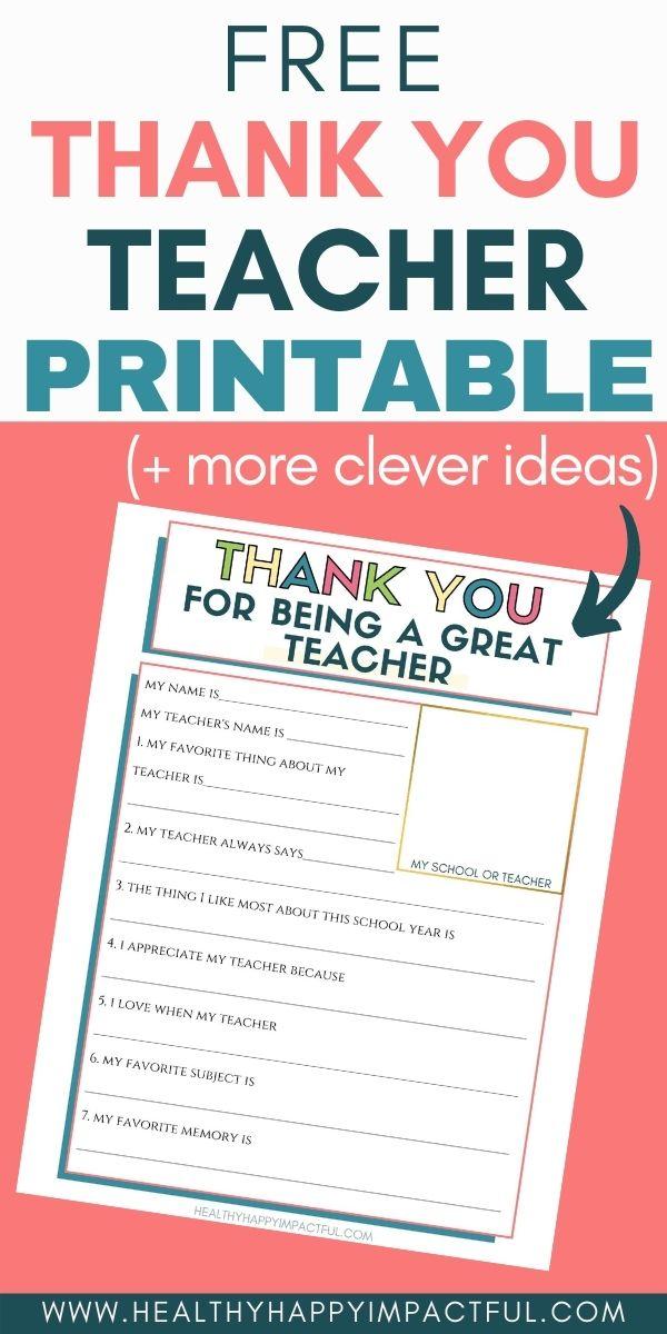 words to thank a teacher pin