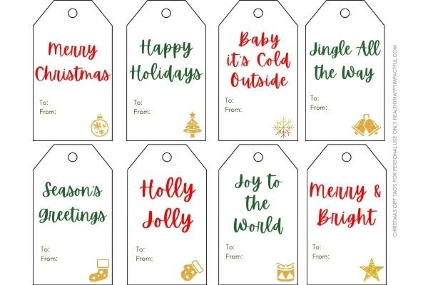 Free Christmas labels handmade