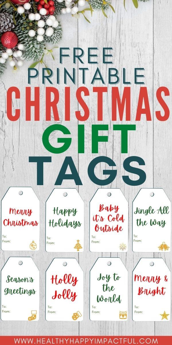 free printable gift tags pin