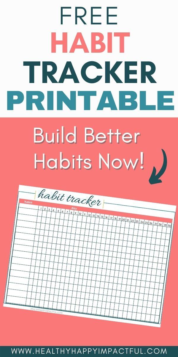 habit tracker printable pin