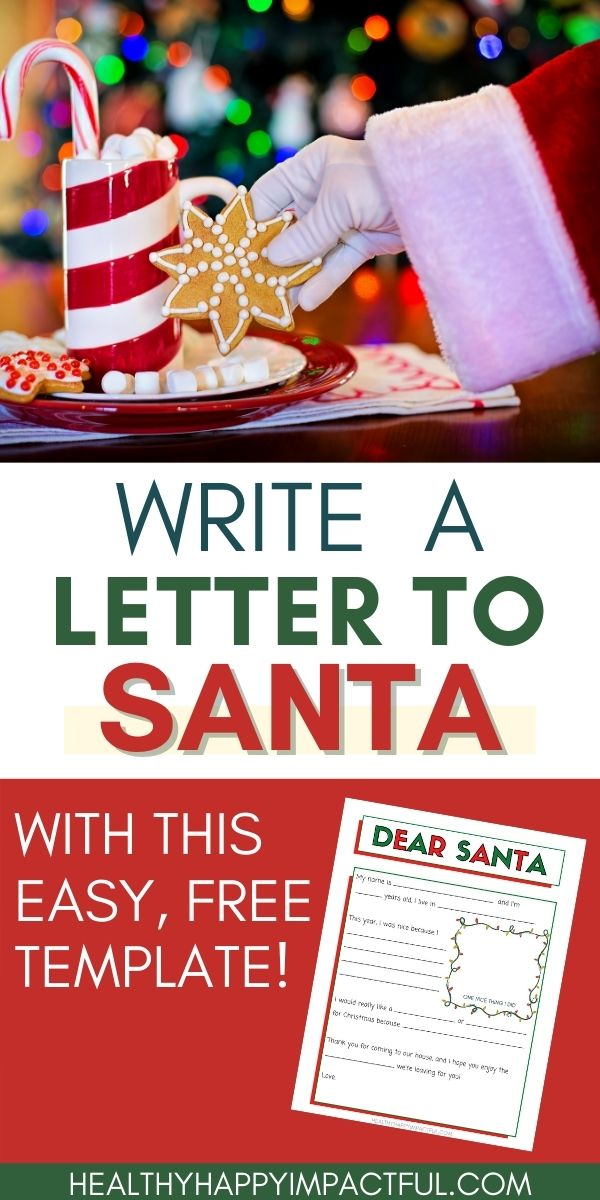 write a letter to Santa Claus pin