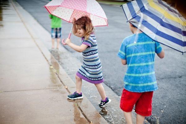a colorful umbrella for a child
