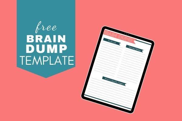 free brain dump template