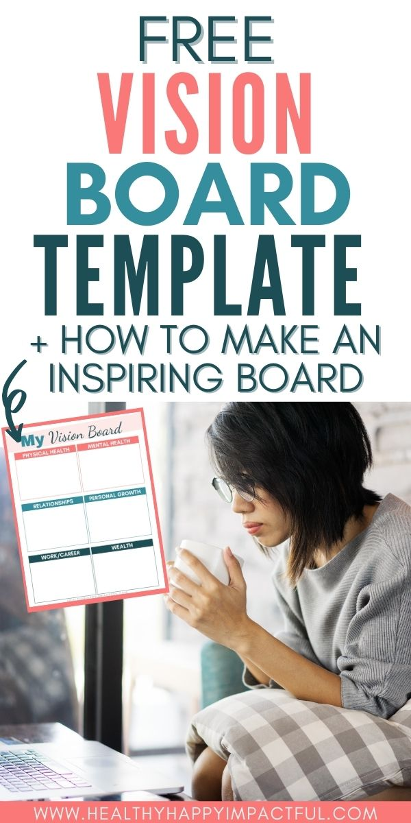 vision board template pin