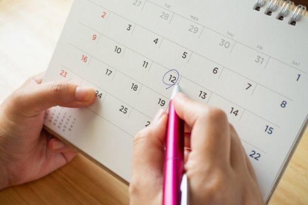 plan your year calendar