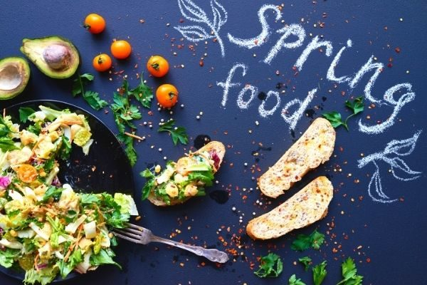 spring bucket list ideas: delicious food