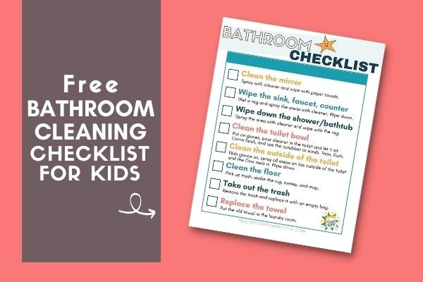 Free Bathroom Cleaning Checklist Printable for Kids