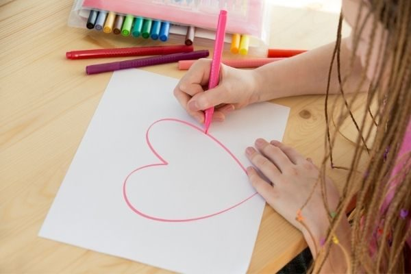 child drawing: kindness daily affirmations for kids
