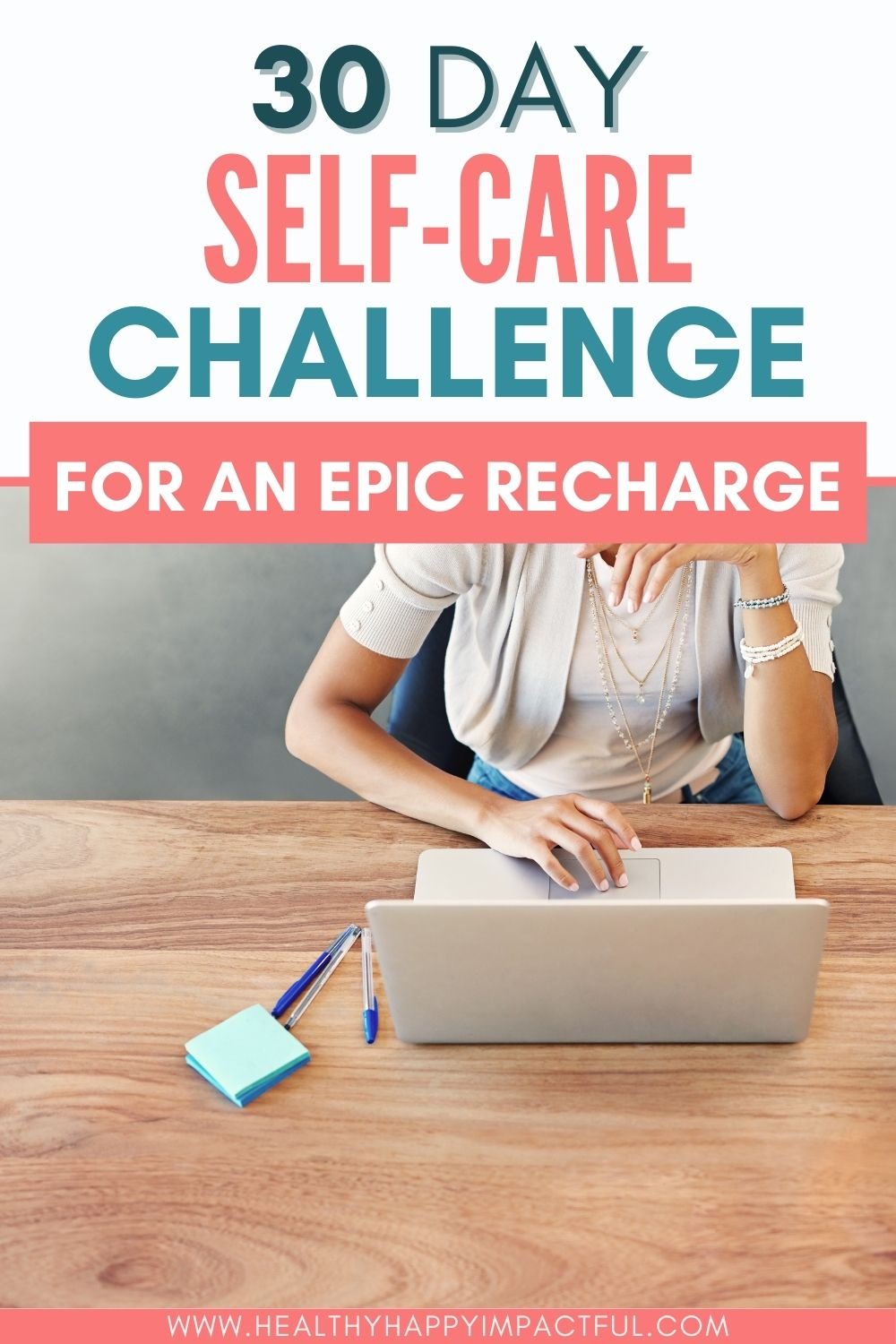 30 day self care challenge pin