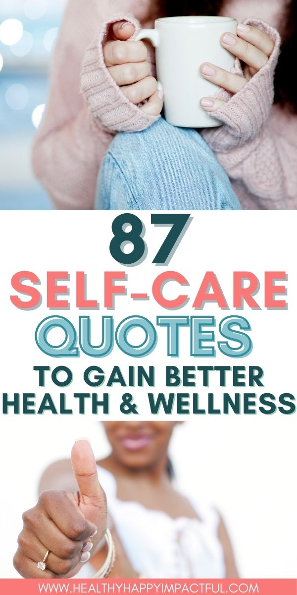 self care quotes pins, woman with coffee