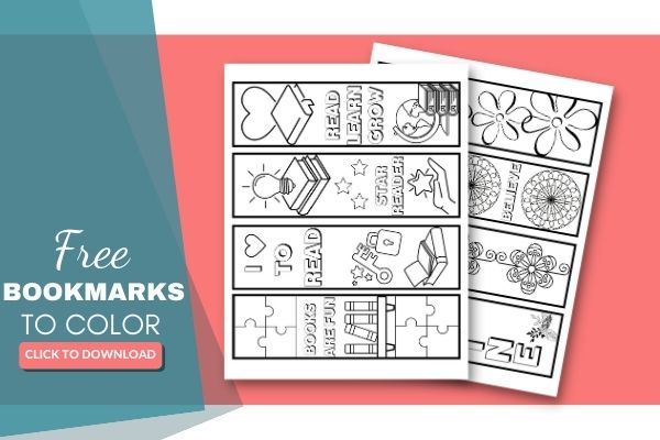8 Fun Free Printable Bookmarks to Color (for Kids & Adults)