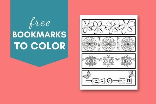 coloring bookmark printable