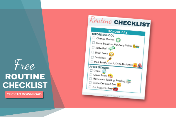 Easy Kids Morning Routine Chart For More Independent Kids