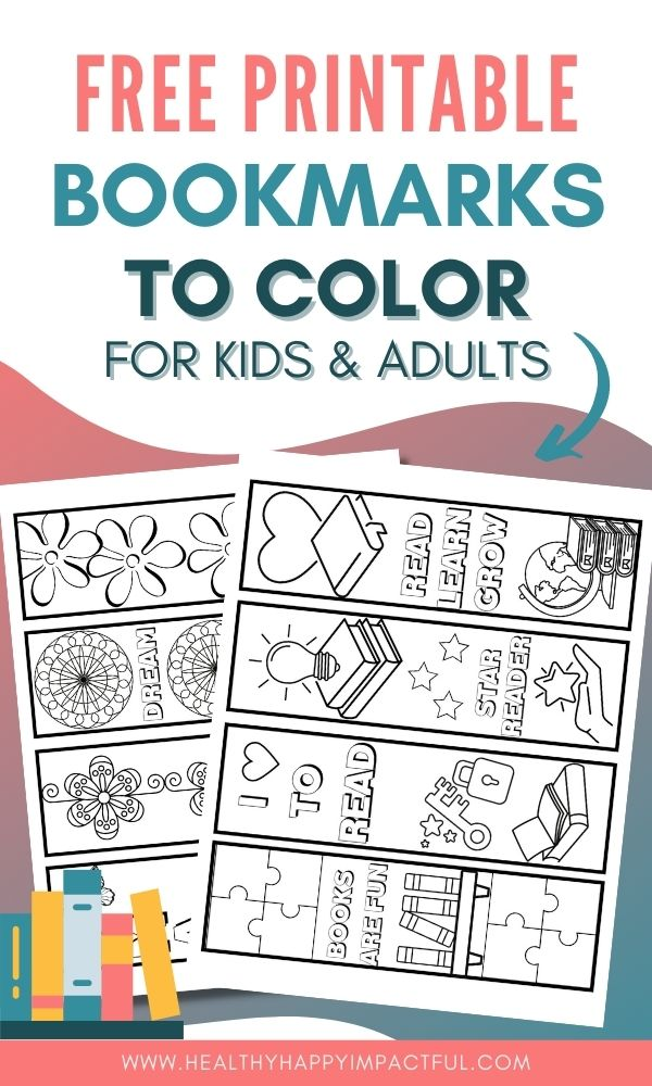 free printable bookmarks to color pin