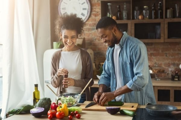 funny would you rather couples questions, partners cooking